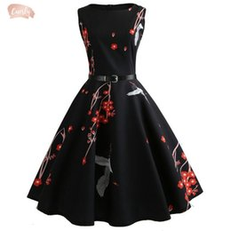 womens pinup dresses Australia - Summer Dresses 2019 Womens Casual Floral Vintage 50S 60S Robe Rockabilly Pinup Vestidos Valentines Day Party Dress Designer Clothes