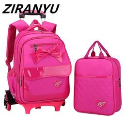 $enCountryForm.capitalKeyWord NZ - Brand Kids Travel Trolley Backpack On wheels Girl's Trolley School bags Children's Travel luggage Rolling Bag School Backpacks