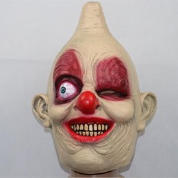 $enCountryForm.capitalKeyWord NZ - New The one-eyed clown mask spoof horror Halloween masked balls played dress clown mask halloween zombie party cosplay maks hot scary props