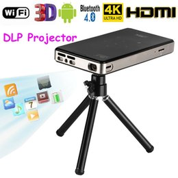 Ingrosso Mini proiettore 4K Smart DLP Android WiFi Bluetooth 1080P 8G Home Theater HDMI