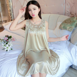 silk nightie Australia - Oversize 4XL Sexy Women Home Sleep Wear Chemise Nightie Nightwear Wedding Bride Lingerie Nightdress Sleepwear Silk Long Dress