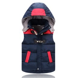 boys 3t winter clothes Canada - Child Waistcoat Children Outerwear Winter Coats Kids Clothes Warm Hooded Cotton Baby Boys Girls Vest For Age 2-12 Years OldMX190916