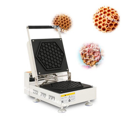 Chinese  Free Shipping Commercial Use Non Stick 110v 220v Electric Honeycomb Shaped Waffle Maker Baker Machine Iron manufacturers