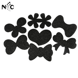 $enCountryForm.capitalKeyWord Australia - High Quality Fashion 6pcs lot Black Large Girls Bangs Magic Paste Posts Hair Sticker Clip Tape Fringe Patch Hair Accessories New