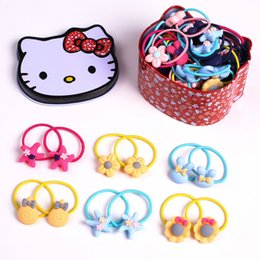 $enCountryForm.capitalKeyWord Canada - hair rings children 40 pcs small leather bands pair cartoon resin High Quality Hair Band Ring Rope Candy Color Bracelet Stretchy Scrunchy