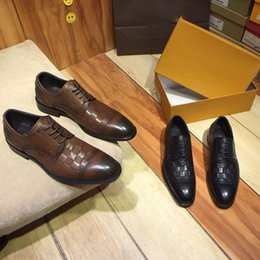 manufacturing plastics Australia - new top designer brand platform dress classic men's leather shoes, the best material manufacturing comfortable, workplace essential