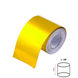 exhaust wrap UK - FIFAN-A Gold 2'' Thermal exhaust Tape Air Intake Heat Insulation Shield Wrap Reflective Heat Barrier Self Adhesive Engine 2 Inch