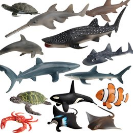Wholesale Factory direct animal style toy wild simulation ocean model clown fish turtle shark model toy Animals Action Figures ing