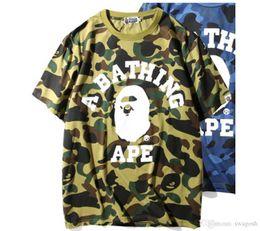Sport T Shirts Designs New Australia - New Design Summer Camouflage For Sharks Blue Patchwork T -Shirt Casual Hip Hop Outdoor Sport T -Shirt