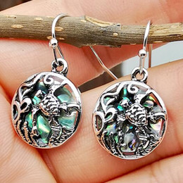 $enCountryForm.capitalKeyWord Australia - 2019 New Arrival European and American Sea Grass Flower Turtle Hollow Out Dangle Hook Earrings E5936