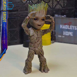 baby groot toy NZ - Strongwell Action Figures Baby Groot Doll Figurine Tree Man Model Toy Marvel Guardians Groot Action Figures Groot Kids Cute