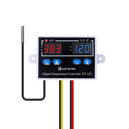 thermostat controller Canada - KT101 24V AC DC C F Digital Thermostat Temperature Controller 10A Direct Output Egg Incubator Temperature Regulator