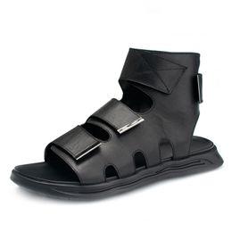 $enCountryForm.capitalKeyWord Australia - Roman sandals men summer cowhide comfortable breathable fashion comfortable shoes outdoor anti-skid casual Shoes men beach