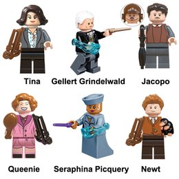 Harry Potter Blocks NZ - Harry Potter Tina Gelllert Grindelwald Jacobo Queenie Seraphina Picquery NewtMini Action Figure Toy Building Block Bricks