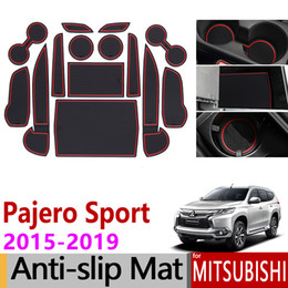 Для Mitsubishi Pajero Sport 2015 2016 2017 2018 2019 Противоскользящая резиновая чашка Подушка Паз Двери Коврик 14 Шт. Montero Shogun Спортивные Аксессуары на Распродаже