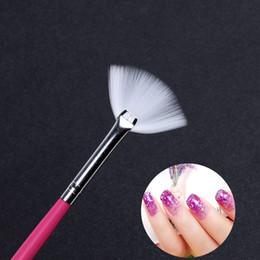 Shading Pen Australia - Cheap Nail Brushes 1pc Powder Sequins Glitters Shading Brush Nail Art Gradient Paintinng Brush UV Gel Polish Pen Manicure Line Stripe Draw