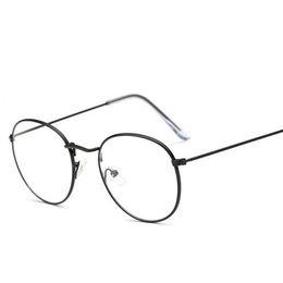 Металлические винтажные круглые очки с оправой Регулируемая кайма тонкие красочные типы Круглые линзы близорукие очки студенты хорошие подарки LJJQ193 на Распродаже