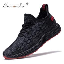Wholesales Shoes Men Australia - 2019 men casual shoes summer Lightweight Breathable Mesh Fashion Comfortable men sneakers #FFFZYL-1