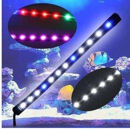 Venta al por mayor de Sumergible Impermeable Acuario Tanque de Peces 6W LED Light Bar Tira de la lámpara EU Plug Fish Acuático Pet Iluminaciones Interruptor de presión