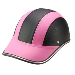 $enCountryForm.capitalKeyWord Australia - Motorcycle Half Helmet Visor Cap with Adjustable Strap for Men Women Riding Cycling NJ88