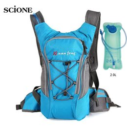Discount hydration backpack bag - Bicycle Backpack Riding Cycling Rucksack With 2L Water Bags Women Men Backpacks Bike Outdoor Hydration Bag Sports Bolsa