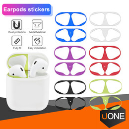 Apple green Accessories online shopping - Hot sale Metal Dust Guard sticker for Apple AirPods Case Cover Dust proof Protective Sticker Skin Protector Air Pods Accessories NO Pcakage