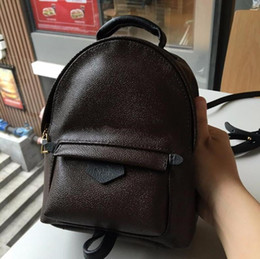 Pink backPack Prices online shopping - High Quality Best Price Original Design Genuine leather mini women bag children backpack luxury famous fashion Springs Palm