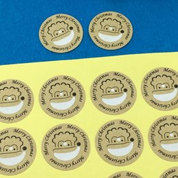 $enCountryForm.capitalKeyWord Australia - 5000Pcs Lot Diameter 3cm Print Smiling Face Paper Adhesive Labels Sealing Stickers Packaging For Jewelry Box Gift Car Envelope