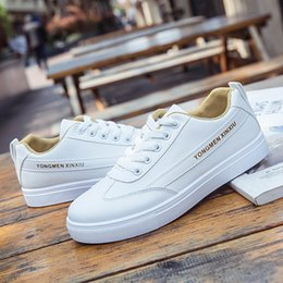 $enCountryForm.capitalKeyWord Canada - Small White Shoes Female 2019 New Spring And Autumn Students Street Shooting Wild Lace Flat Bottom Shoes Casual Shoes Size 35-40
