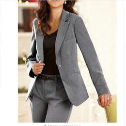 Discount purple tuxedo women - Female suit dress Notch Lapel Women s  Business Office Tuxedos Ladies Suit dfd985d710