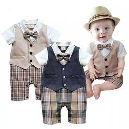 $enCountryForm.capitalKeyWord Australia - Baby Boys Clothes Newborn Months Tuxedo Rompers Shortall Handsome Gentleman Roupas De Bebe Clothing Vest Boties Infantil J190524