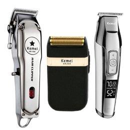 Vente en gros KM 5027 Kemei Tous Tondeuse à cheveux professionnel en métal électrique rechargeable Tondeuse Haircut rasage Kit machine KM-1996 KM 2024