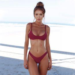 $enCountryForm.capitalKeyWord Australia - summer swimwear sexy backless bikini - explosion style Brazilian sexy four-color solid color bikini swimsuit split suit Free shipping