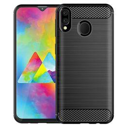 $enCountryForm.capitalKeyWord Australia - For samsung M10 M20 M30 Slim Soft Anti-slip Carbon Fiber brushed TPU Cellphone Case with free shipping