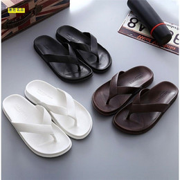 Discount feet clips - Slippers male summer outside wear drag men's Sandals Korean version trend anti-skid beach shoes clip feet Slippers