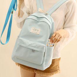 $enCountryForm.capitalKeyWord Australia - Nufangu Simple Design Oxford Korea Style Women Backpack Fashionable Girls Leisure Bag School Student Book Bag Teenager Y190627