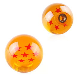 gear types NZ - Car Seven Star Ball Shift Knob Gear knob Ball Type Shifter AT MT Orange Three Types Adapters Cool Funny Automobile Acessories Popular Hit