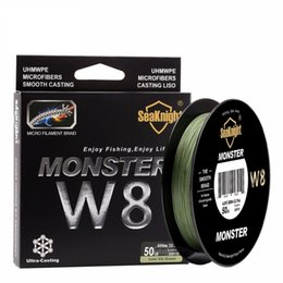 monster braid 2021 - New super Monster W8 Super Strong 300M 8 Strands Weaves PE Braided Fishing Line Rope Multifilament 20LB 30LB 40LB 50LB 80LB 100L T191016
