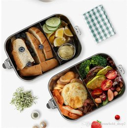 food compartment box Australia - 304 Stainless Steel Thermos Lunch Box for Kids Reusable Lunch Container 2 Compartment Bento Box Food Container Thermal Lunchbox A05