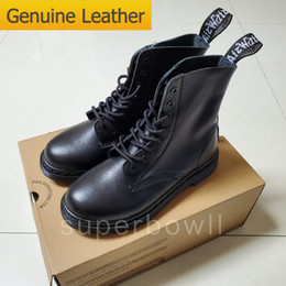 Dress snow online shopping - Luxury Designer Genuine Leather Dress Mens Shoes Martin Boots Martins Boots Women Boots Height Increasing Shoes Us With Box