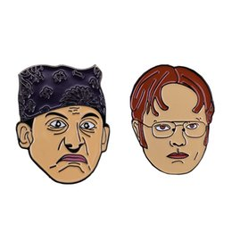 michael glasses UK - Dwight Schrute And Michael Scott Soft Enamel Pin Set Other Home Decor
