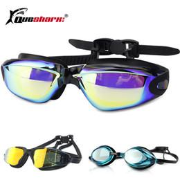 7cdd8a0c0 Homens Mulheres Galvanoplastia Óculos de Natação Grande Quadro Corrida  Óculos de Natação Anti-fog HD Swim Eyewear suprimentos Colorido
