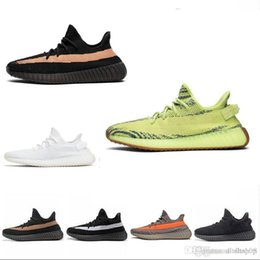 Canvas Shoes 11 Australia - 2019 Sneaker New Kanye West SPLY Running Shoes Grey Orange Stripes Zebra Bred Black Red LOTS Color Quality Sneakers 5-11