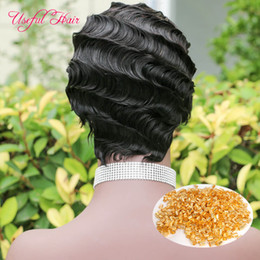 short hairstyles white hair NZ - Poker Face Human Hair Wigs for White Women Short Black Marley Ombre Curly Short Wigs Brazilian Virgin Hair Human Hair Wigs Kinky Curly