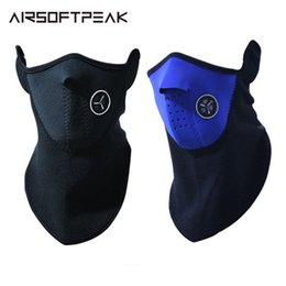 winter fleece face mask NZ - Outdoor Winter Thermal Fleece Face Mask Cap Ski Cycling Warm Mask Snowboard Shield Hat Cold Headwear Bicycle Training Mask Hood