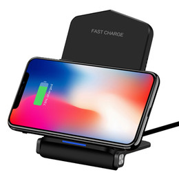 Wholesale QI V Fast Wireless Charger Foldable Wireless Charging Pad for Samsung Galaxy S9 S9 S8 S8 S7 S7Edge Note iPhone X