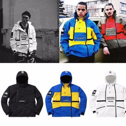 Black Lapel Sleeveless Zipper Australia - 16SS Steep Tech Hooded JACKET White Soldier Black Soldier Men And Women Couples High Quality Three Colors HFBYJK059