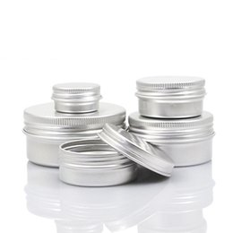 lip balm wholesale tin UK - Empty Aluminum Cream Jar Tin 5 10 15 30 50 100g Cosmetic Lip Balm Containers WB2121