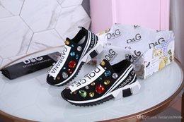 Fashion Designer Sneaker Uomo Donna Casual Scarpe Vera pelle Mesh a punta scarpe da corsa Runner Scarpe da ginnastica con scatola US5-12 in Offerta