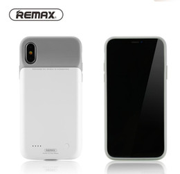 Banking Case Australia - Original Remax 4000mah Power Bank Case for iPhone X XS MAX XR Ultra Slim External Backup Battery Charger Soft TPU ABS Case
